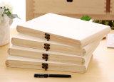 El tipo rectángulo de madera del libro