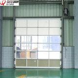 Высокое качество автоматической коммерческих безрамные стеклянные складные двери гаража