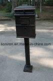 Почтового ящика сада чугуна фиоритуры коробка письма белого напольная