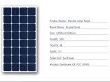 熱い販売の高性能100Wの半適用範囲が広い太陽電池パネル18V