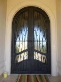 أنيق [ورووغت يرون] باب مع زجاج قابل للفتح
