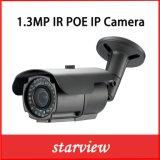 Camera van het Netwerk van de Kogel van de Veiligheid van kabeltelevisie van het toezicht 1.3MP IP IRL de Waterdichte