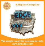 Monograma personalizado con un disco de metal esmaltado medalla artesanales Souvenir de regalo