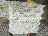 Marmo di Backsplash dell'oro di Calacatta mosaico di esagono di 1 pollice