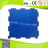 Плитки настила центра пригодности резиновый с белыми Flecks EPDM