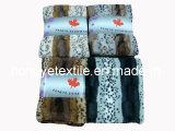 Animal Fausse Fourrure Couverture en laine polaire, imprimé et de la brosse de jeter de décoration