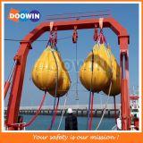 Teste de carga de pescoço de água com peso de sacos certificados por teste de queda