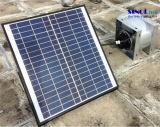 angeschaltenes zentrifugales Solargebläse der Luft-20W für Decke mit 30W 9.6ah eingebauter Lithium-Batterie (SN2016018)