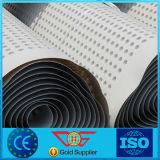 Доска дренажа димпла HDPE материальная
