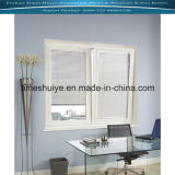 Fenêtre en aluminium avec la buse et le verre trempé (l'isolation thermique)