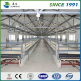 Bâti élevé d'atelier d'entrepôt de structure métallique d'histoire galvanisé
