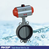 CF8 Body와 Disc, Oil, Gas, Water를 위한 EPDM Seat에 있는 압축 공기를 넣은 Actuator Control Stainless Steel Butterfly Valve Wafter Type