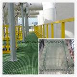 Grating moldado GRP de FRP para plataformas químicas