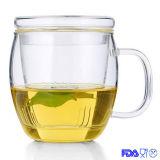 Taza Mano-Soplada, taza de cristal, taza del té, taza de té a prueba de calor