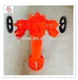 2 maneiras de ferro fundido/Ferro Dúctil BS750 Válvula de aterragem de hidrantes de pilar dianteiro
