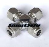 Ajustage de précision à haute pression d'acier inoxydable de double embout