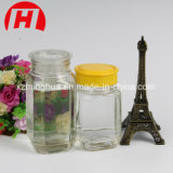 Tarro de mermelada de vidrio cuadrado tarro de miel de vidrio con tapa de rosca
