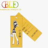 Étiquette de papier recyclable faite sur commande de coup de vente chaude (BLF-T036)