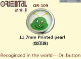 11.7mm Printed Pearl Prong Type Snap Button