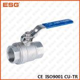 Valvola a sfera dell'acciaio inossidabile di Esg 2-PC