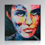 Hand-Painted lienzo moderno abstracto retrato Pop Art Pintura al Óleo de su foto