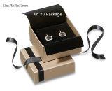 Rectángulo de joyería de papel del anillo, rectángulo de almacenaje de madera, rectángulo de papel del collar