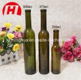 Bottiglia di vino di vetro trasparente del ghiaccio