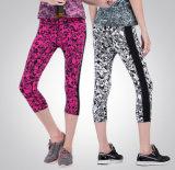 高品質の昇華印刷の適性の体操の摩耗の伸張4の方法レギングの女性のヨガのズボン
