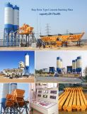 tipo planta de procesamiento por lotes por lotes concreta del compartimiento del material de construcción 75m3/H