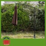 2.5mの円形の庭の傘のコーヒーカラーバナナの傘
