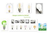 Bulbo claro plástico do diodo emissor de luz da lâmpada do alumínio A50 6W da tampa