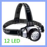 Multifunktionshohe Leistung Emergency 12 LED Headlamp Head Light mit Elastic Strap