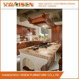 Castanho Personalizado clássicos americanos armário de cozinha em madeira maciça