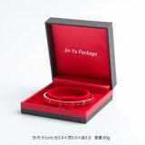 Rectángulo de plástico hechas a mano joyas collar de caja de embalaje de regalo