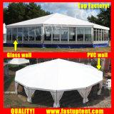 2018 de Witte Hoogste Multi ZijTent Decagon van de Tent Fastup voor Diameter 15m van de Gebeurtenis van de Sport de Gast van Seater van 200 Mensen