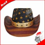Chapéu de palha americano do chapéu da estrela