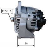 24V 80A Alternator per Bosch Mercedes Benz Lester 23528 0124555011