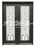 Aquatex Doppelscheiben-bearbeitetes Eisen-Eintrag-Tür-Glasentwürfe