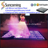 3D Optische illusies LED Mirror Portable LED Dance Floor