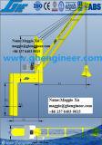 40t quatro cordas agarrar hidráulica mecânica Grua do deck de intercalação