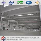 Oficina/armazém pré-fabricados do frame da construção de aço/vertido