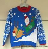 Grey Marl Penguin Intarsia Sweater - Suéter de punto hecho punto de los niños