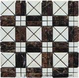 Natura che pavimenta l'ardesia di pietra di marmo arrugginita della coltura delle mattonelle di mosaico