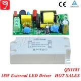 электропитание света панели СИД 18W Singel изолированное напряжением тока с Ce TUV QS1181