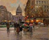 Pintura al óleo de Decorative París de la pared en Canvas