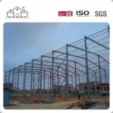 Grande costruzione prefabbricata della struttura d'acciaio con la gru come il workshop/fabbrica/magazzino