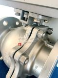 Flansch-Kugelventil des Form-Edelstahl-pneumatischen Stellzylinder-2PC