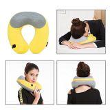 Pista que utiliza y cuello del recorrido de la U-Dimensión de una variable de la almohadilla inflable del cuello