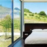 Portello di vetro di scivolamento automatico della serratura di alluminio alla moda di alta qualità di prezzi di fabbrica