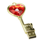 Da movimentação impermeável 1GB do polegar da cor do ouro fábrica chave do USB Shenzhen